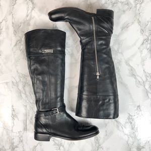 COACH Micha Tall Wide Calf Leather Riding Boots 7